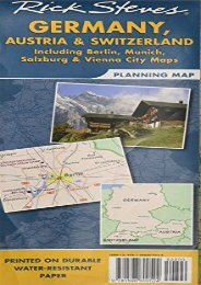 Rick Steves  Germany, Austria, and Switzerland Map: Including Berlin, Munich, Salzburg and Vienna City