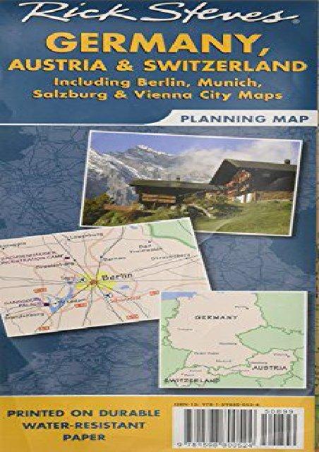 Map Of Germany Austria And Switzerland.Rick Steves Germany Austria And Switzerland Map Including Berlin