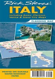 Rick Steves  Italy Map: Including Rome, Florence, Venice and Siena City