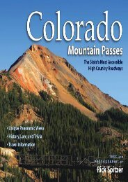 Colorado Mountain Passes: The State s Most Accessible High Country Roadways