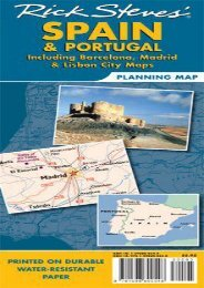 Rick Steves  Spain and Portugal Map: Including Barcelona, Madrid and Lisbon