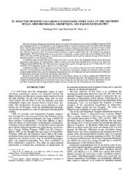 29. SELECTED NEOGENE CALCAREOUS NANNOFOSSIL INDEX ...