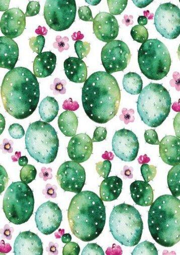 Bullet Journal Watercolor Cactus