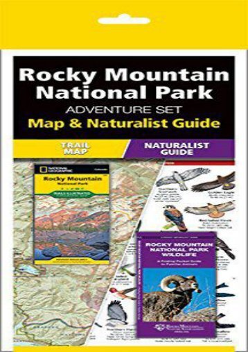 Rocky Mountain National Park Adventure Set: Map   Naturalist Guide