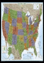 United States Decorator [Tubed] (National Geographic Reference Map)