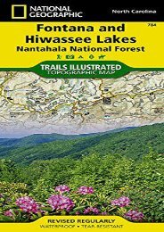 Fontana and Hiwassee Lakes [Nantahala National Forest] (National Geographic Trails Illustrated Map)