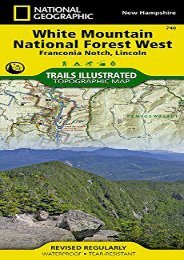 White Mountain National Forest West [Franconia Notch, Lincoln] (National Geographic Trails Illustrated Map)