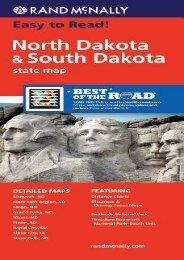 Rand McNally Folded Map: North Dakota, South Dakota (Rand McNally State Maps)