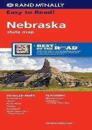 Rand McNally Easy To Read: Nebraska State Map