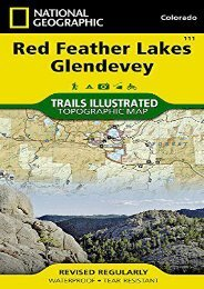 Red Feather Lakes, Glendevey (National Geographic Trails Illustrated Map)