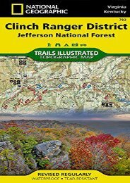 Clinch Ranger District [Jefferson National Forest] (National Geographic Trails Illustrated Map)