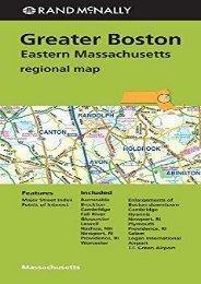 Rand McNally Greater Boston Eastern Massachusetts Regional Map