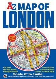 Map of London A-Z 1:10.56K