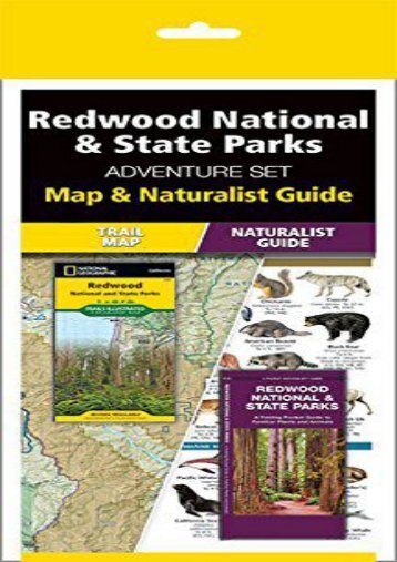 Redwood National   State Parks Adventure Set: Trail Map   Wildlife Guide