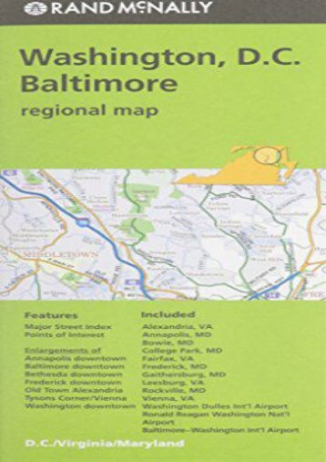 Rand McNally Folded Map: Washington, D.C.   Baltimore (Regional Map)