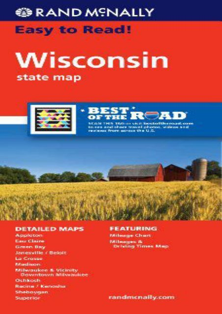 Rand McNally Easy To Read: Wisconsin State Map