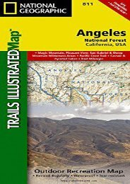 Angeles National Forest (National Geographic Trails Illustrated Map)