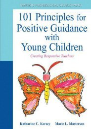 101 Principles for Positive Guidance with Young Children: Creating Responsive Teachers (Practical Resources in ECE)