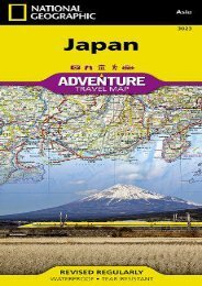 Japan (National Geographic Adventure Map)