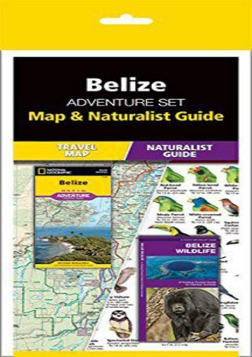 Belize Adventure Set: Map   Naturalist Guide