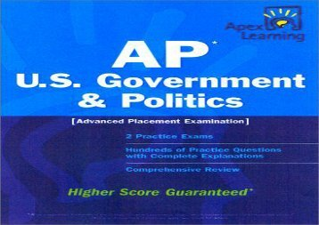 Apex AP U.S. Government   Politics (Apex Learning)
