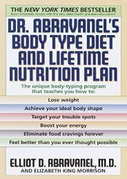 Dr. Abravanel s Body Type Diet and Lifetime Nutrition Plan