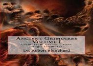 Ancient Grimoires  Volume I: Grimorium Verum - Dark Magic Grimoire
