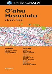 Folded Map: O ahu, Honolulu (Rand McNally Streets Of...)