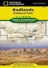 Badlands National Park: South Dakota, USA Outdoor Recreation Map (National Geographic Maps: Trails I