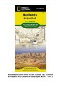 Badlands National Park: South Dakota, USA Outdoor Recreation Map (National Geographic Maps: Trails I - Page 2