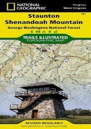 Staunton/Shenandoah Mountain, George Washington National Forest Hiking Map
