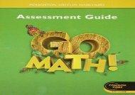 Go Math! Assessment Guide, Grade 1, Common Core Edition