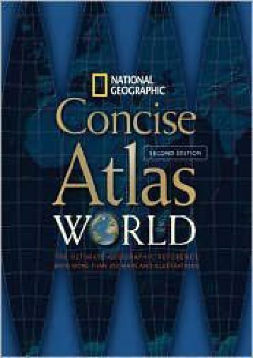 Concise World Atlas Second Edition National Geographic