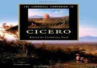 The Cambridge Companion to Cicero (Cambridge Companions to Literature)