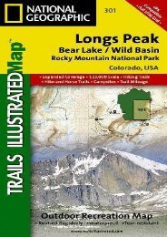 Longs Peak: Rocky Mountain National Park [Bear Lake, Wild Basin] (National Geographic Trails Illustrated Map)