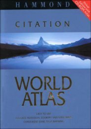 Hammond Citation World Atlas Deluxe Edition with Hammond World Atlas CD-ROM with CDROM