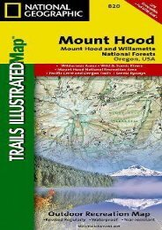 Mt. Hood   Willamette National Forest - Trails Illustrated Map #820