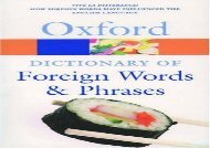 The Oxford Dictionary of Foreign Words and Phrases (Oxford Quick Reference)