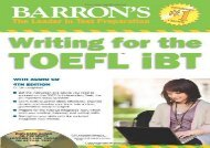 Writing for the TOEFL iBT with Audio CD, 4th Edition (Barron s Writing for the TOEFL)