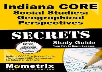 Ohio grade 5 social studies achievement test blueprint indiana core social studies geographical perspectives secrets study guide indiana core test review for malvernweather Choice Image