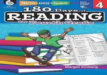 180 Days of Reading for Fourth Grade (Practice, Assess, Diagnose)