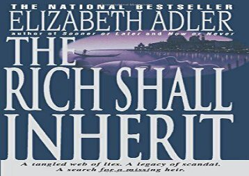 Rich Shall Inherit, The