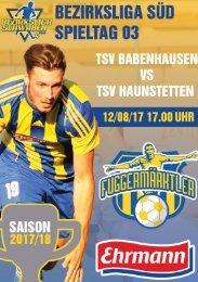 20170812 Fuggermärktler TSV 1862 Babenhausen - TSV Haunstetten