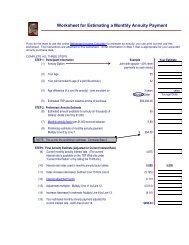 tsp annuity worksheet