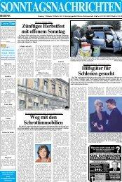 Tel. 0 23 23 / 5 40 95 · Fax 0 23 23 / 1 32 28 - Sonntagsnachrichten