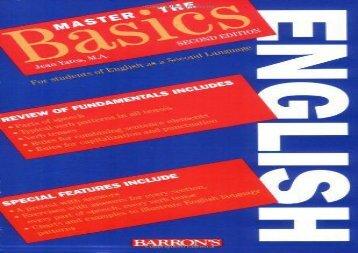 Master the Basics: English (Master the Basics)