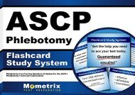 ASCP Phlebotomy Exam Flashcard Study System: Phlebotomy Test Practice Questions   Review for the ASCP s Phlebotomy Technician Examination (Cards)