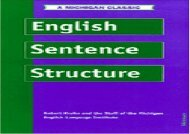English Sentence Structure (Intensive Course in English Series)