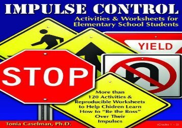 Impulse Control Activities   Worksheets for Elementary Students W/CD