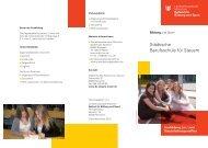 Ausbildung Steuerfachanstellten Landeshauptstadt München - Sabel
